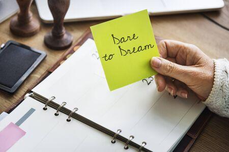 Dare Dream Goal Inspiration Motivation Target Concept Stock Photo