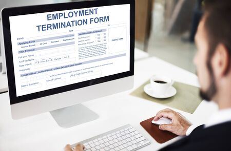 terminate: Employment Termination Form Contract Concept