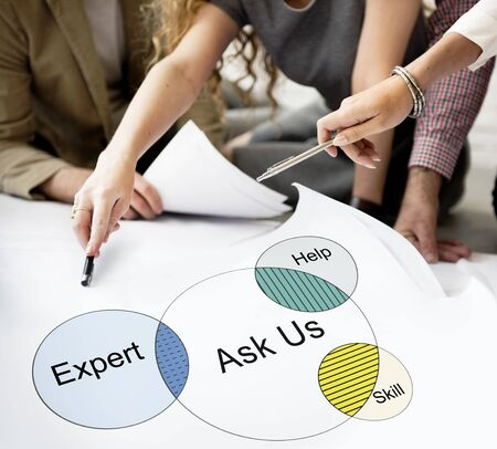 Consult Opinion Ask us Tips Helpful Advice Concept Stock Photo