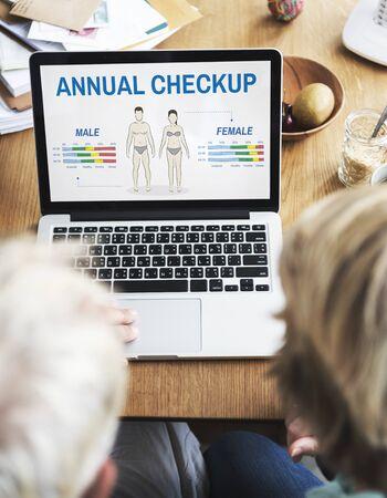 body check: Health Check Annual Checkup Body Biology Concept