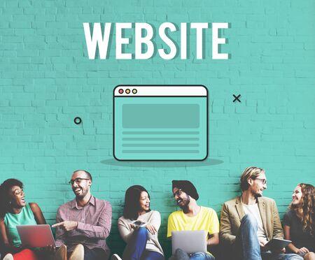 diversity domain: Web Design Template Graphic Concept