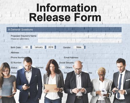 Information Release Form Document Concept Reklamní fotografie