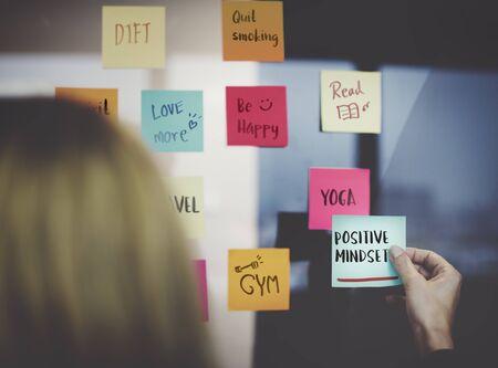 positivity: Positivity Mindset Thinking Wellness Concept