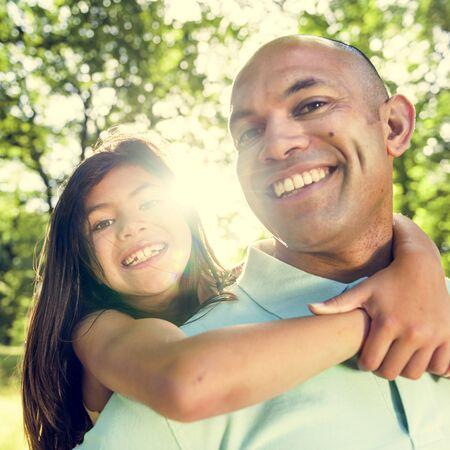 Otec dceři zádech Bonding Veselý Concept