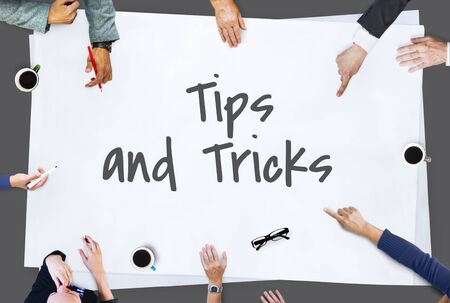 Tips Tricks Helpful Information Concept