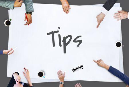 helpful: Tips Tricks Helpful Information Concept