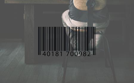 to encode: Bar Code Encoding Decode Shopping Coding Concept Stock Photo