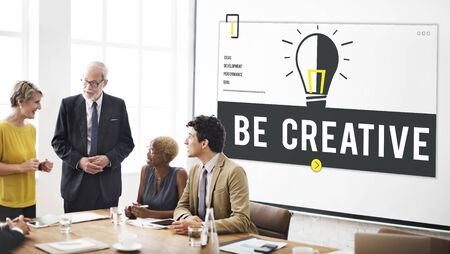 place to learn: Fresh Ideas Light Bulb Graphic Stock Photo