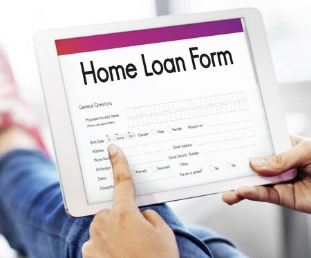 apartment search: Home Loan Financial Support Concept Stock Photo