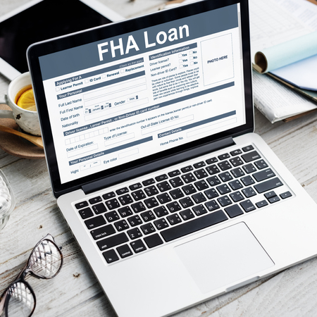 downpayment: FHA Loan Federal Housing Administration Lending Concept