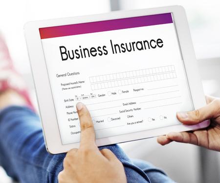 Business Insurance Benefit Document Concept Stock Photo