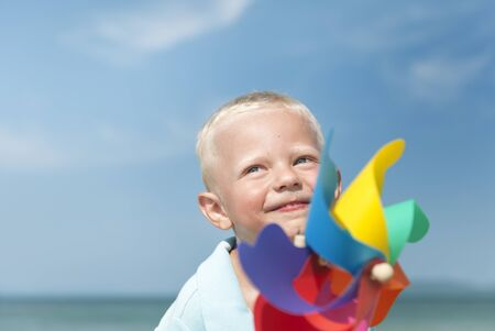 water turbine: Turbine Paper Beach Carefree Playing Wind Concept