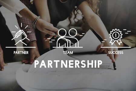 corporation: Business Collaboration Teamwork Corporation Concept Stock Photo