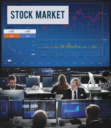 financial market: Stock Market Results Stock Trade Forex Shares Concept