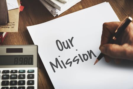 our: Our Mission Ideas Leadership Concept
