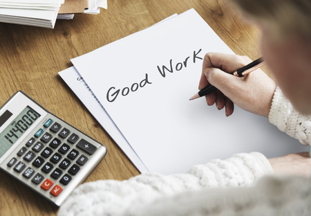 Neem contact op met Assistent Good Job Concept
