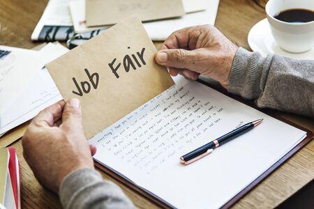 employing: Job Fair Seeking Work Hiring Concept