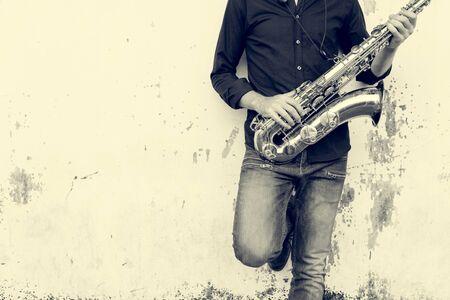 サックス交響楽団音楽家ジャズの楽器コンセプト