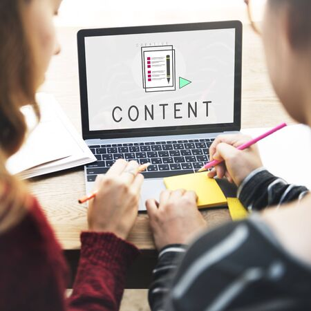 fulfilled: Content Blogging Social Media Networking Concept