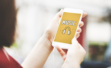 Audio Media Headphone Icon Stock Photo