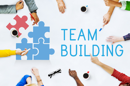 Team Building Group Work Concept Stock Photo