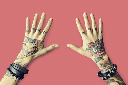 way of life: Tattoo Woman Style Glamour Alternative Lifestyle Concept Stock Photo