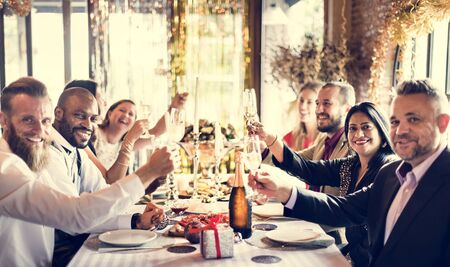 celebrate year: Restaurant Chilling Out Classy Lifestyle Reserved Concept Stock Photo