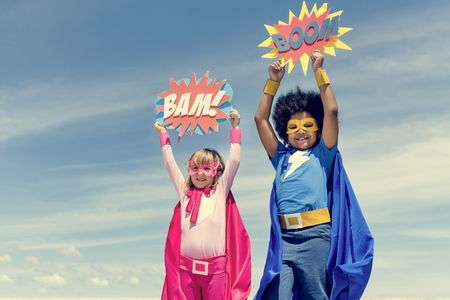 Children Childhood Super Hero Concept Stock Photo - 66740341