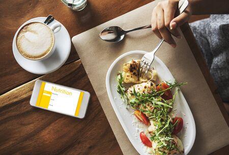 alimentacion balanceada: dieta equilibrada y el concepto de nutrición Foto de archivo