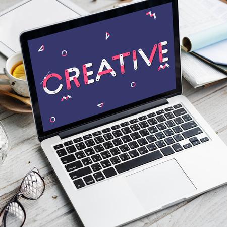 Creative concept on laptop screen Standard-Bild - 111521514