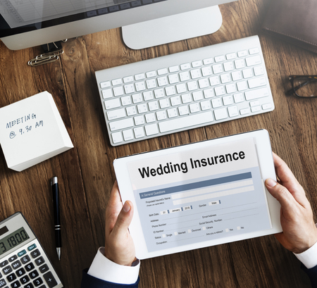 financial planning married: Wedding Insurance Marriage Form Concept