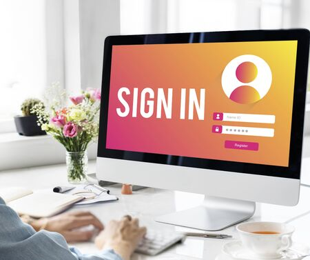 username: Sign In User Password Privacy Concept Stock Photo