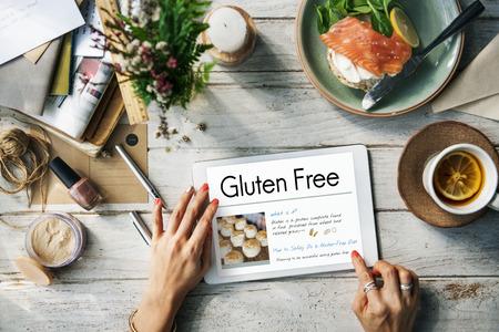 Glutéine gratuit maladie coeliaque Concept Banque d'images - 66999346