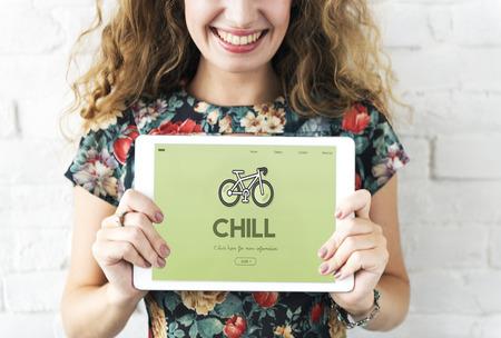 Chill concept on digital tablet