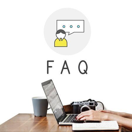 qa: Questions Help Service Concept Stock Photo