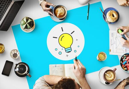 Ideas Lightbulb Innovation Thinking Icon Concept