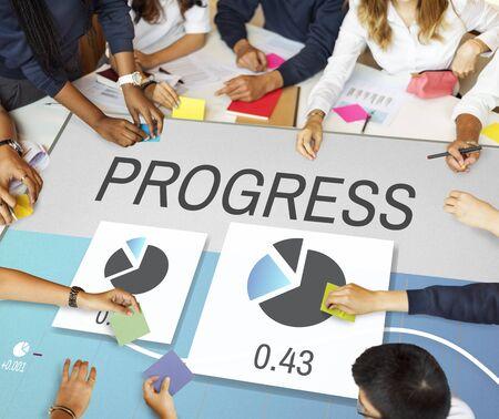 Progress Perfomance Marketing Planning Concept Stock Photo