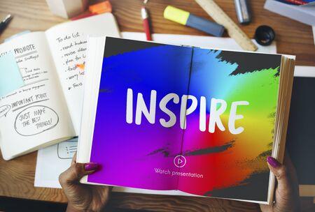 creer: Inspirar CREE Crear Concept Foto de archivo
