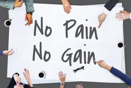 No Pain No Gain Concept 版權商用圖片