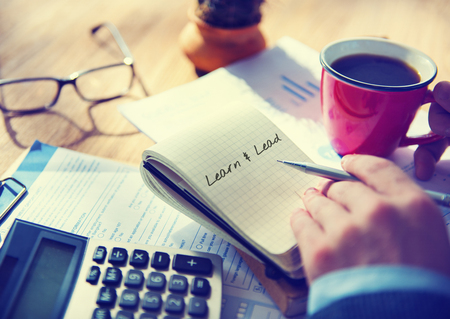 Learn and Lead Leadership Management Organization Concept Stock Photo