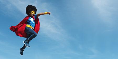 Little Boy Super Hero Concept Reklamní fotografie