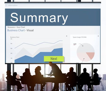 Information Performance Analysis Report Graphic Concept Stock Photo