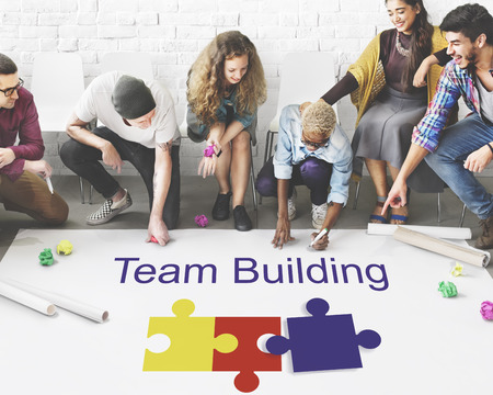Team building concept with group of people
