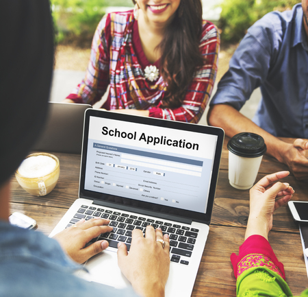 application university: School Application Document Registration Form Concept