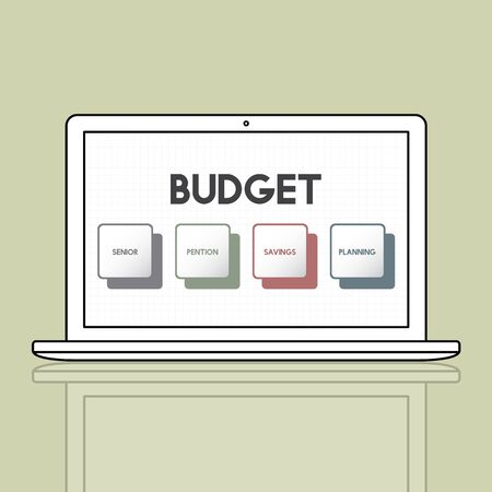 pensions: Retirement Plan Budget Investment Concept Stock Photo
