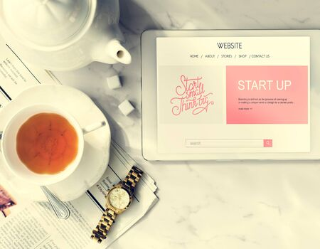 Homepage Technology Netwokring Website Digital Concept