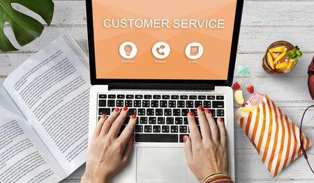 service desk: Customer Service Contact Us Help Desk Concept