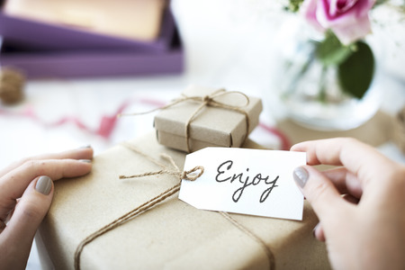 Enjoy concept with gift