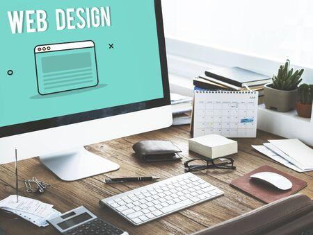web template: Web Design Template Graphic Concept