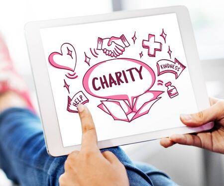 outside the box: Support Donations Charity Volunteer Care Welfare Concept